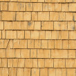Quebec, wooden tiles on a wall of an house — Stock Photo