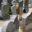Stock Photo: Cemetery of Oberhausbergen in Alsace