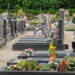 The cemetery of Oberhausbergen in Alsace - Stock Photo
