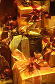 Presents in a shop window — Stock Photo