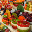 Stock Photo: France, some dishes at market in Provence