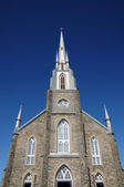 Quebec, the historical church of Riviere du Loup — Stockfoto