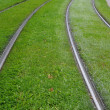 Stock Photo: Alsace, tramway rail in Strasbourg