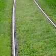 Alsace, tramway rail in Strasbourg — Stock Photo