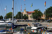 Sweden, the harbour of Visby in Gotland — Stock Photo