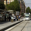 Ile de France, tramway in Paris — Stock Photo