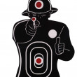 Vertical picture of a shooting target — Stock Photo
