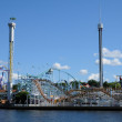 Luna park at the seaside in Stockholm - Stock Photo