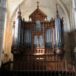 France, organ in Poissy collegiate church — Stock Photo