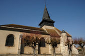 Historical church of Gasny in l Eure — Stock Photo