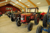 Old and historical tractors in Storlinge Motormuseum — Stock Photo