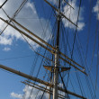 Tree masted boat on the Baltic sea in Stockholm - Foto de Stock