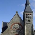 Church of Le Touquet Paris Plage in Nord Pas de Calais — Stock Photo #22364125