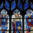 Yvelines, stained glass window in Poissy collegiate church — Stockfoto
