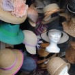 France, hats in a display window in Paris — Stock Photo