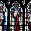 Yvelines, stained glass window in Poissy collegiate church — Stok Fotoğraf #22445431