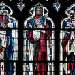 Yvelines, stained glass window in Poissy collegiate church — Stock fotografie #22445431