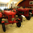 Stock Photo: Old and historical tractors in Storlinge Motormuseum