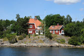 Baltic sea and seaside in Stockholm — Stock Photo