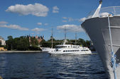 Boat on the Baltic sea in Stockholm — Stock Photo
