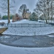 France, the city of Les Mureaux in winter — Stockfoto