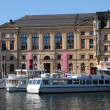 Old and historical boat in the port of Stockholm - Стоковая фотография
