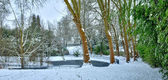 France, the city of Les Mureaux in winter — Stock Photo