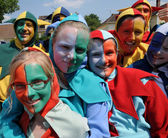 France, actors at a carnival in Les Mureaux — Stock Photo
