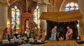 France, nativity scene in Triel sur Seine church — Stock Photo