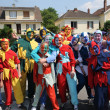Stock Photo: France, actors at carnival in Les Mureaux