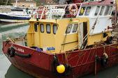 Rybářský přístav port en bessin v normandii — Stock fotografie