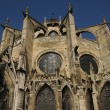 Stock Photo: France, collegiate church of Mantes