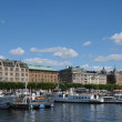 Boat on the Baltic sea in Stockholm - Stock Photo