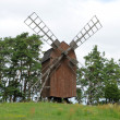Sweden, old and historical windmill of Storlinge - Стоковая фотография