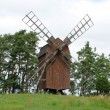 Sweden, old and historical windmill of Storlinge - Stock Photo