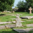 Old cemetery of Kalla around the church - Stock Photo