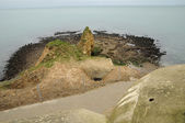 La Pointe du Hoc in Criqueville sur Mer in Normandie — Stock Photo