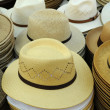 Stock Photo: French hats on market