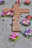 Ile de france, le cimetière de triel sur seine — Photo