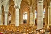 Interior of the church Saint Martin of Triel sur Seine — Stock Photo