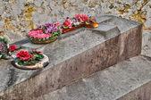 Ile de francia, el cementerio de triel sur seine — Foto de Stock