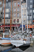 Port of Honfleur in Normandie — Stock Photo