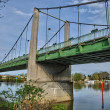 France, suspension bridge of Triel Sur Seine — Stockfoto