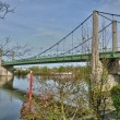 France, suspension bridge of Triel Sur Seine — ストック写真