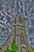 франция, hdr фотография сен-пьер церкви святого павла в les му — Стоковое фото