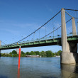 France, the suspension bridge of Triel Sur Seine — Stock Photo
