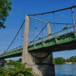 France, the suspension bridge of Triel Sur Seine — Foto Stock