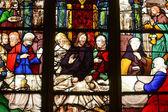 франция, витраж в церкви святого мартина triel — Стоковое фото