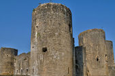 Medieval castle of Villandraut in Gironde — Stock Photo