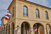 Francja, ratusz z la roche guyon — Zdjęcie stockowe